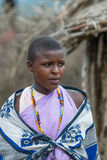 MASAI MARA, KENYA - September, 23: Young Masai woman on Septembe Royalty Free Stock Photography