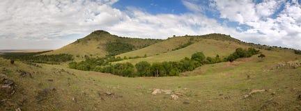 Masai Mara landscape panorama Stock Images