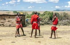 Masai Mara in village Royalty Free Stock Photo