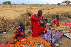 Masai market Stock Photo