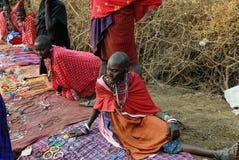 Masai market Royalty Free Stock Images