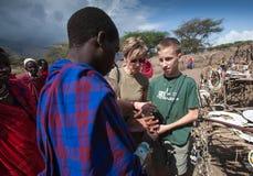 Masai market Stock Images