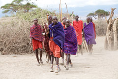Masai men Stock Photos