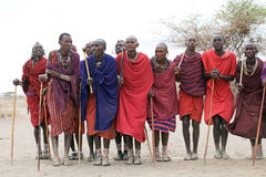 Masai men Royalty Free Stock Photo