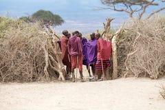 Masai men Stock Photo