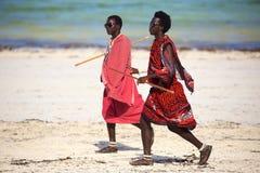 Masai men in Zanzibar Royalty Free Stock Photography