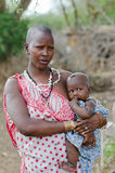 Masai mother and child Royalty Free Stock Photography