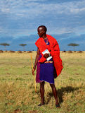 Masai nature guide Stock Photo
