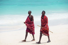 Masai odprowadzenie Zdjęcia Royalty Free