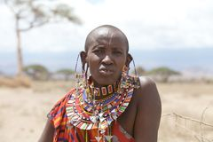Masai old woman Royalty Free Stock Image
