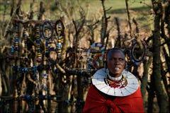 masai ornamentuje kobiety Fotografia Stock