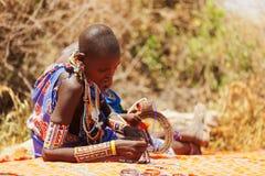 Masai people Royalty Free Stock Photo