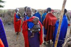 Masai plemię zdjęcia stock