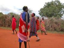 masai plemię Zdjęcia Royalty Free