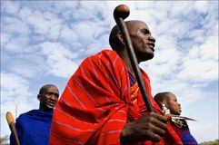 Masai portrait. Royalty Free Stock Photography
