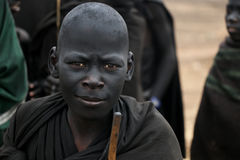 Masai potomstw wojownik fotografia royalty free