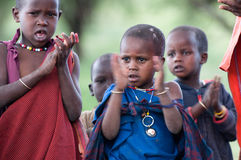 Masai school royalty free stock image