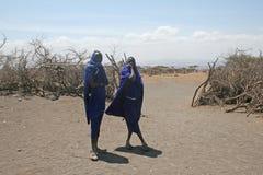 Masai shepherds Royalty Free Stock Image