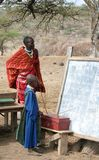 Masai Student and Teacher Stock Photo