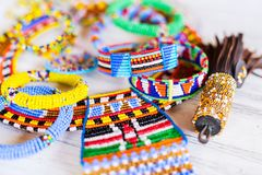 Masai traditional jewelry Royalty Free Stock Photos