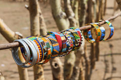 Masai traditional jewelry Royalty Free Stock Images