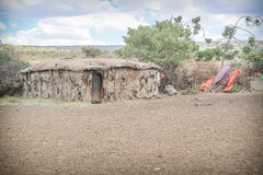 Masai traditional village Royalty Free Stock Image