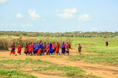 Masai tribe traditional clothing Royalty Free Stock Photos
