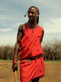 Masai tribesman in Masai-Mara Stock Images