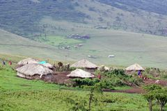 Masai village Royalty Free Stock Photos
