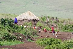 Masai village Stock Photography