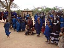 Masai village. Traditional Masai village - Kenya 2007 Royalty Free Stock Photography