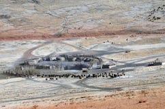 Masai Village From Above Ngorongoro Crater Tom Wurl Stock Photos