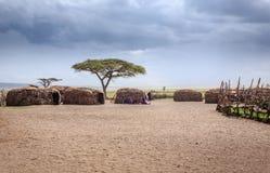 Masai Village Royalty Free Stock Images