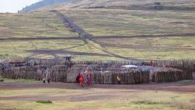 Masai village Stock Images