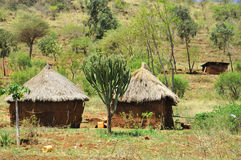 Masai village Stock Photos
