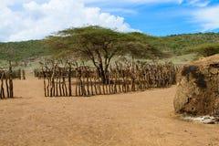 Masai village Royalty Free Stock Image