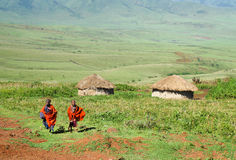 Masai village Royalty Free Stock Photo