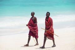 Masai walking Royalty Free Stock Photos