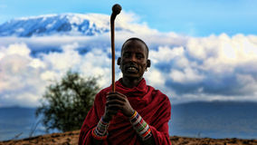 Masai Warrior Royalty Free Stock Photo