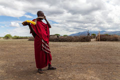 Free Masai Warrior. Stock Images - 79488634