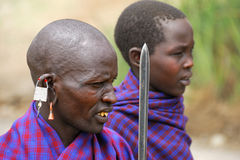 Masai warriors Royalty Free Stock Image