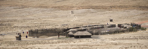 masai wioska zdjęcie stock