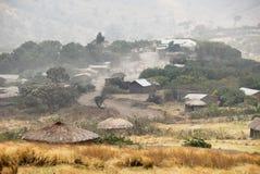Masai wioska, Wielki rift valley, Tanzania, Wschodni Afryka Obrazy Stock