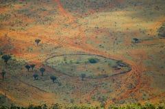 Masai wioski klauzura zdjęcia royalty free