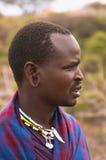 Masai wojownika szef Fotografia Royalty Free
