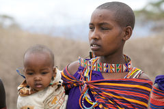 Masai woman Stock Image