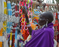 Masai woman in the market Stock Photos