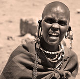 Masai woman Stock Image