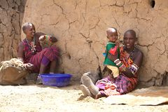 Masai women and child Stock Image