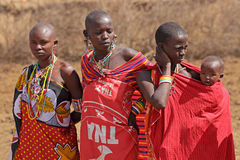 Masai women and child Royalty Free Stock Images